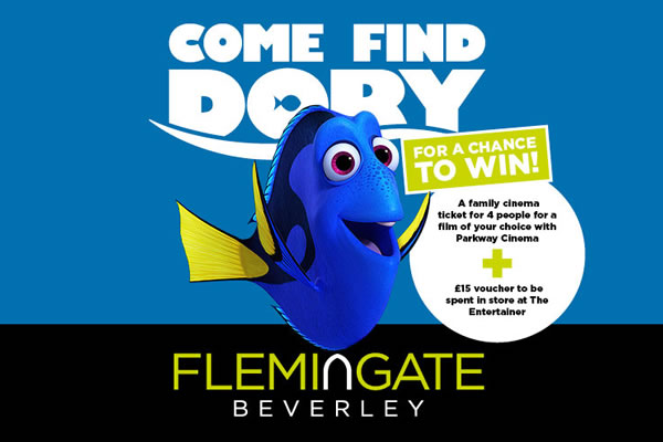 Come Find Dory at Flemingate this August