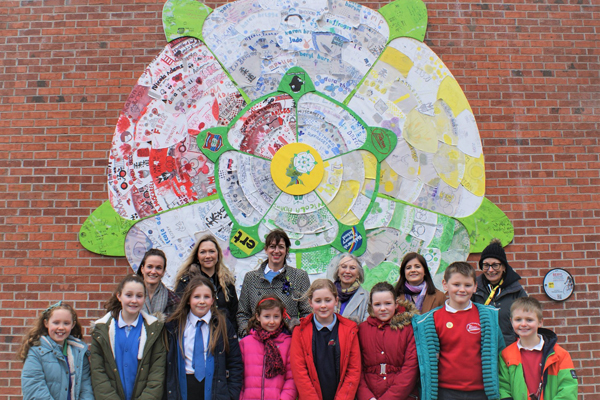 Children celebrate cycling legend Beryl and Yorkshire girl power