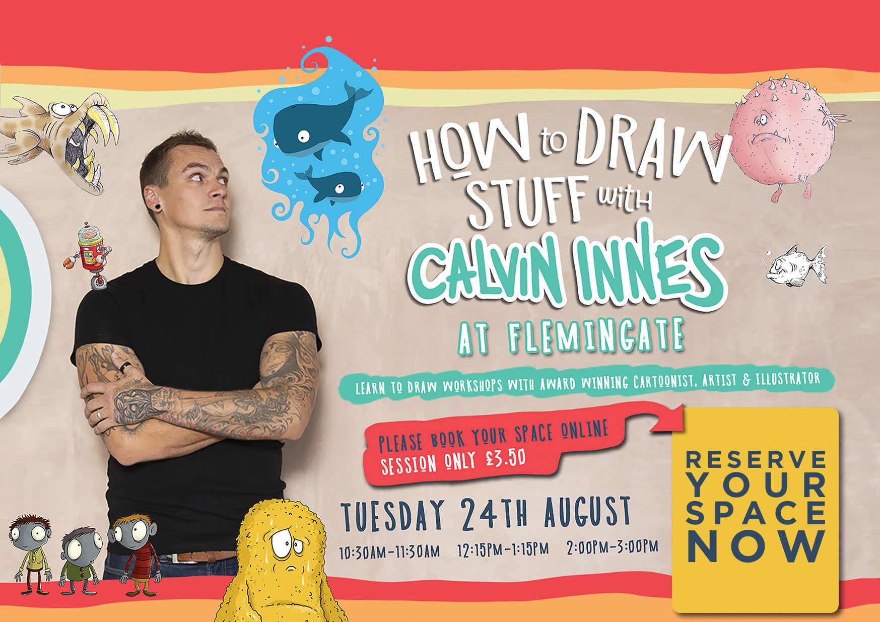 How to draw with Calvin Innes